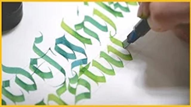 آموزش خطاطی انگلیسی سبک تلفیقی قرون وسطی مدرن